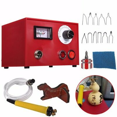 220V 50W Multifunction Pyrography Machine with 10PCS Blades