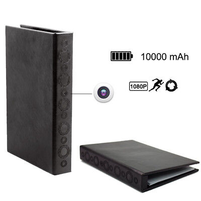 1080P Hardcover Book Motion Detective Hidden Camera with Night Vision Long Time