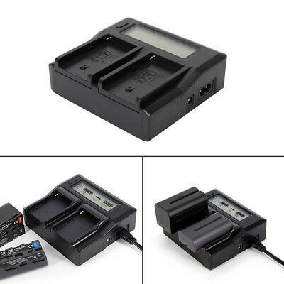 Ruibo Fast Quick Dual Battery Charger For Sony NP-F970 NP-F770 F750 F550 F960