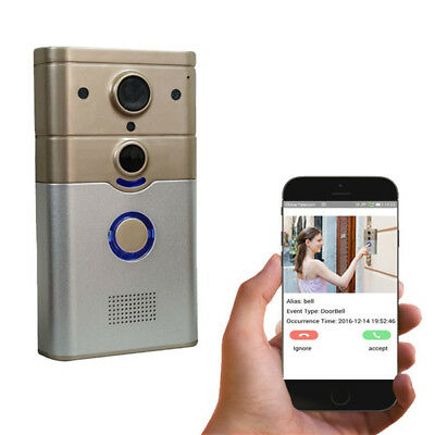 720P WIFI Security Video Doorphone Camera Motion Detection Alarm WIFI Doorbell f