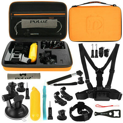 PULUZ PKT32 20 in 1 Accessories Combo Kit Stand Mount Bag Screw for Action Sport