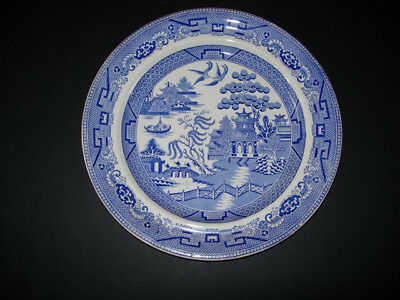 Blue and White Stoneware Podmore and Walker Plate good colour condition