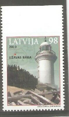 2010   LATVIA  -  SG  786  - LIGHTHOUSE - Booklet Stamp - UMM