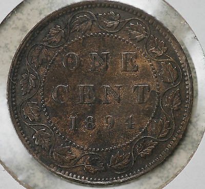 Nice Original Better Date 1894 Canada Victoria Large Cent !!