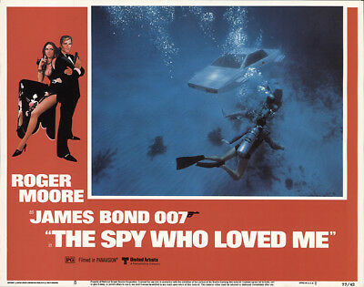 The Spy Who Loved Me 1977 11x14 Orig Lobby Card FFF-59472 Very Fine Roger Moore