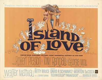 Island of Love 1963 28x22 Orig Movie Poster FFF-49173 Never Folded Walter Mat...