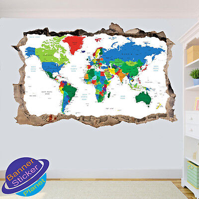 Vintage distressed world map photo light switch sticker cover world map wall stickers posters decal art murals room office school decor vk0 gumiabroncs Image collections