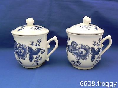 PAIR *ROYAL WORCESTER* RHAPSODY - Lidded CHOCOLATE POTS - Excellent