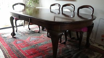 Fabulous Victorian Mahogany Windout Dining Table Ball & Claw Cabriole Legs