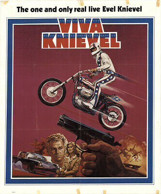 Viva Knievel! 1977 26.875x32.25 Orig Movie Poster FFF-42920 Red Buttons