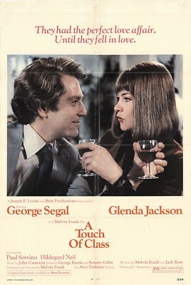 A Touch of Class 1973 27x41 Orig Movie Poster FFF-38661 George Segal