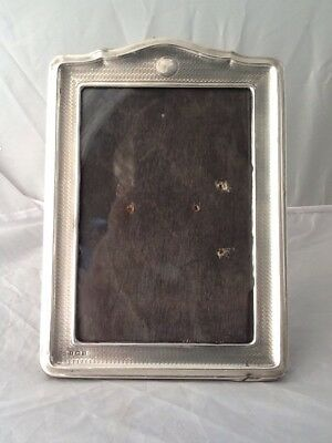 Medium Sized Engine Turned Silver Photo Picture Frame - Birmingham 1922