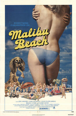 Malibu Beach 1978 27x41 Orig Movie Poster FFF-43215 James Daughton U.S. One S...