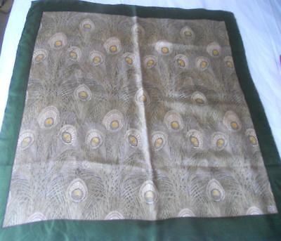 VINTAGE LIBERTY OF LONDON PURE SILK SCARF SQUARE WILLIAM MORRIS 86 x 90 cms