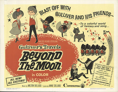 Gulliver's Travels Beyond the Moon 1966 22x28 Orig Movie Poster FFF-56253