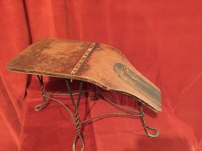 Old Antique Bent Wire Shoe Salesman Stool Chair Shoe Store