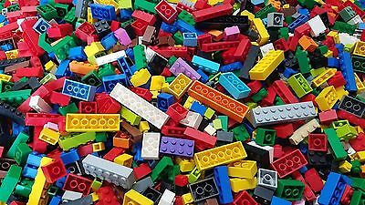 LEGO Bulk Lot of 200 Mixed Building Brick Pieces in Assorted Colors