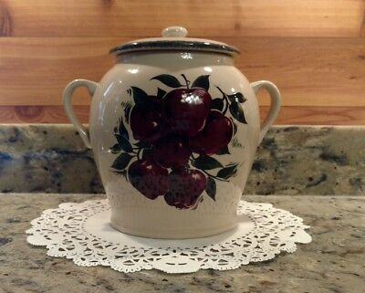 2005 Stoneware Home & Garden Party Apple Canister