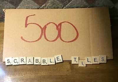 500 GENUINE WOOD SCRABBLE TILES 5 FULL SETS OF 100 EACH Mix Vintage And New Sets