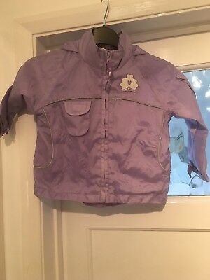 Girls Lilac Lightweight Raincoat Age 1.5 - 2 Years