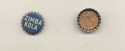 1 Vintage Original ZIMBA COLA CORK LINED Soda Bottle Cap Unused 1940s NOS Kola
