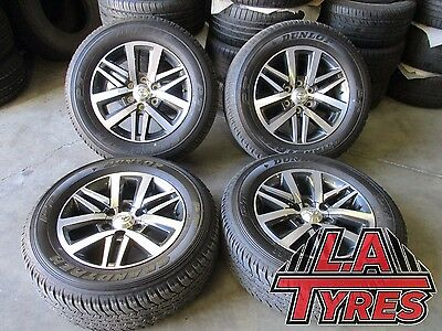 4x Toyota Hilux SR5 Wheels NEW Dunlop Tyres 18 Inch Genuine Package AT Tyres