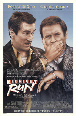 Midnight Run 1988 27x41 Orig Movie Poster FFF-47591 Rolled Robert De Niro