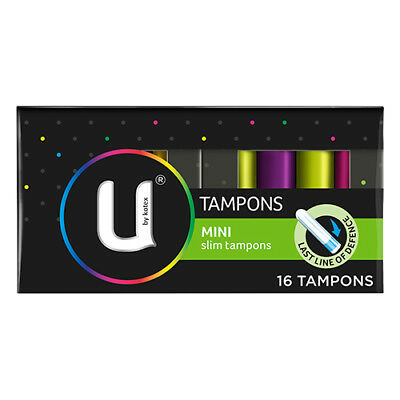 NEW U By Kotex Tampons Mini For Light Flow Or Start End Of Period 16 Pack