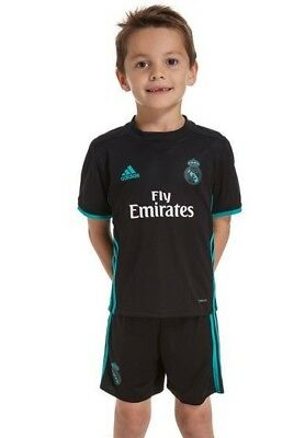 Adidas Real Madrid FC AWAY Boys Kits Shirt Short 2017-18 Season NO 7 RONALDO