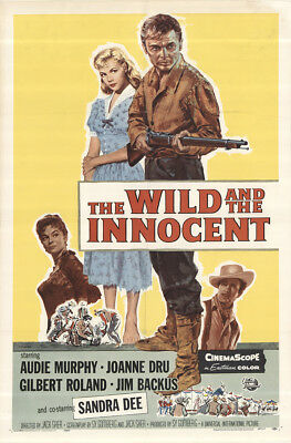 The Wild and the Innocent 1959 27x41 Orig Movie Poster FFF-46535 Audie Murphy