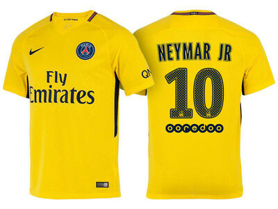 Nike Paris Saint-Germain FC AWAY Adult Shirts Jerseys 2017-18 Season NEYMAR JR