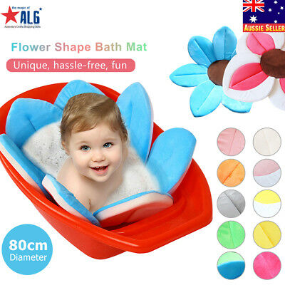 Baby Blooming Flower Shower Bath Mat Soft Kids Infant Lotus Sink Tub Bathtub