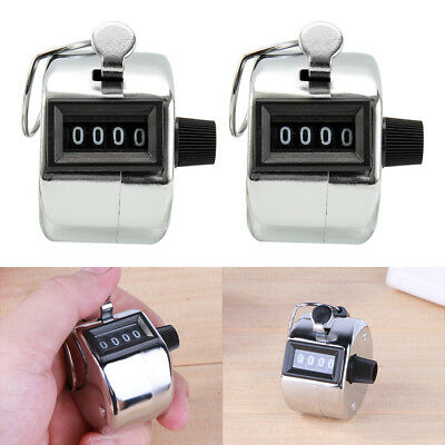 2X Golf Hand Held Tally 4-Digit Number Clicker Sports Counter Counting Recorder
