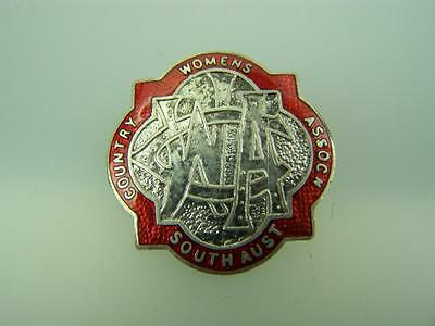 Pin back badge Vintage CWA Country Womens Association South Australia   1441