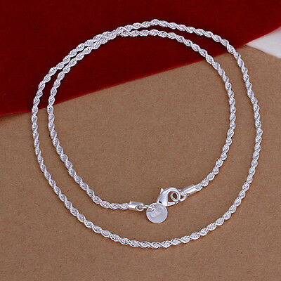 Bulk Solid Sterling Silver Classic Necklace Chain For Pendant Jewelry Unisex