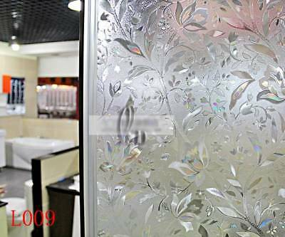90cm x5m Static Glueless 3D Reusable Removable Frosted Window Glass Film L009