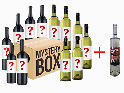 AU Mystery White & Red Wine Mixed with 1 free bottle of Red Flag Vodka - RRP$189