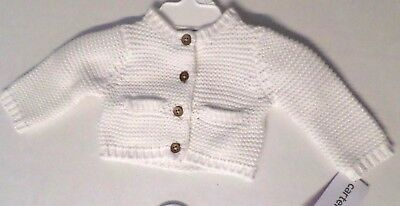 Carter's Baby Girls Cotton Knit Button Down Cardigan Sweater White Select Size