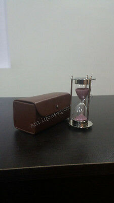 "Marine Art 1917 ""3 Minutes"" Antique Marine Sand Timers  Nickle Finish"
