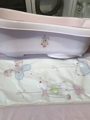 Pink Changing Mat And Bath Set