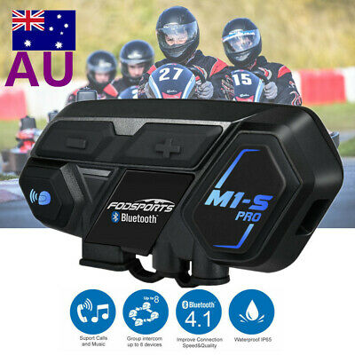8Riders 2000m BT Motorcycle Interphone Helmet Headset Bluetooth Intercom Headset