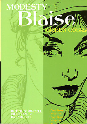 Modesty Blaise The Green Cobra O'Donnell Burns Wright Titan Books First Edition