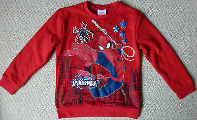 NWT Marvel Ultimate Spiderman Licensed Boys Red Jumper with 3D Spiders Size 6 7