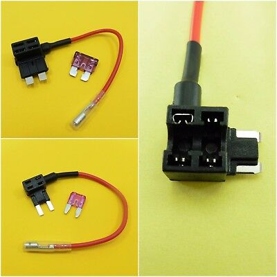 Piggy Back Add A Circuit Fuse Blade Holder & 12V FUSE Tap Car Boat Van Motor amp