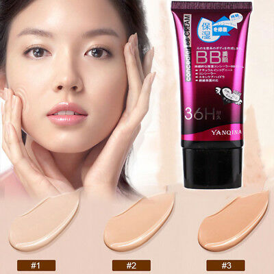 3Colors BB Cream Makeup Face Base Liquid Foundation Concealer Moisturize White