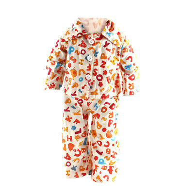 "ABC Printed Pajamas Outfit for American/Our Generation/Journey Girl 18"" Doll"