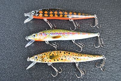 1 x 11 cm shallow dive TROUT MINNOW FISHING LURE freshwater MUZZA'S Lures