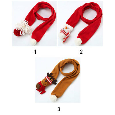 Santa Claus Christmas Style Scarf Adults Kids Snowman Warm Soft Neck Scarves