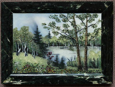 "STONE PAINT ""Forest lake"" 175x135 mm (6,9x5,3 inch)"