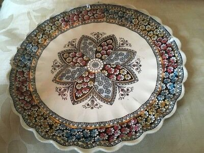 W.T Copeland & Sons Gothic Revival Plate Stylised Contrasting Petals & Border